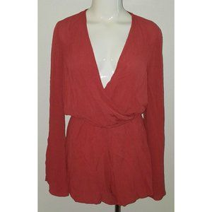 NWT Lovestitch Pink Romper SMALL Outfit Long-Slv